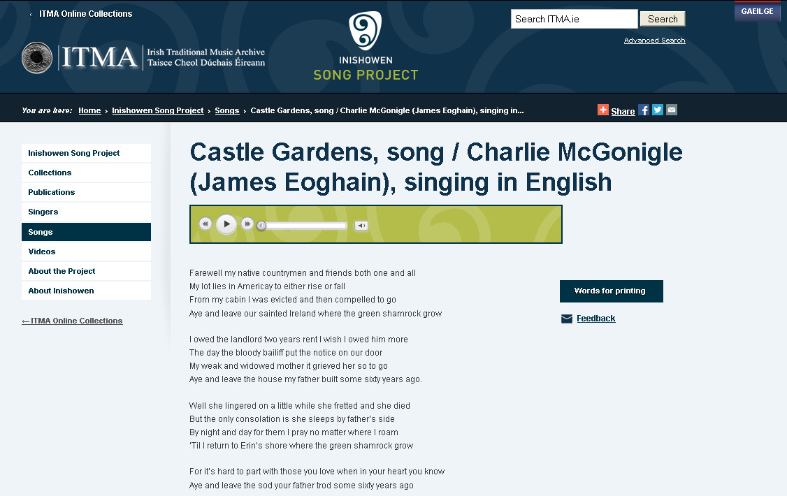 Inishowen Song Project