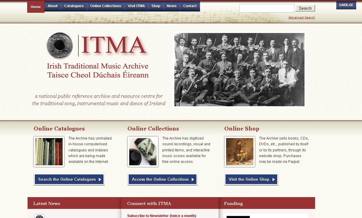 ITMA website home page